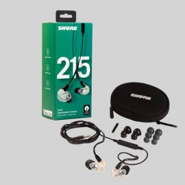 Shure SE215 Sound Isolating™ Earphones with Remote & Mic - Clear