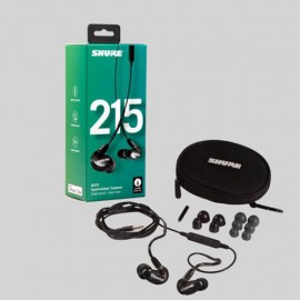 Shure SE215 Sound Isolating™ Earphones with Remote & Mic - Black