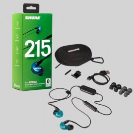 Shure SE215 Sound Isolating™ Bluetooth Earphones with Remote & Mic - Blue