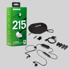 Shure SE215 Sound Isolating™ Bluetooth Earphones with Remote & Mic - White