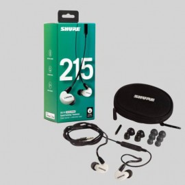 Shure SE215 Sound Isolating™ Earphones with Remote & Mic - White