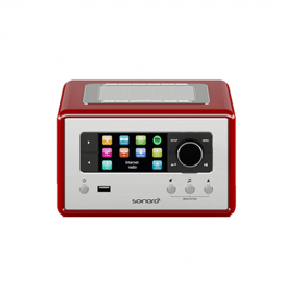 Sonoro RELAX Stereo with Bluetooth USB/FM/DAB+ - RED