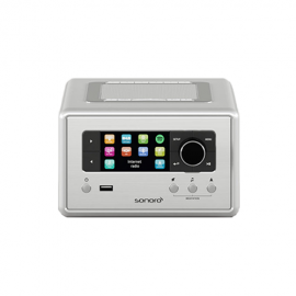 Sonoro RELAX Stereo with Bluetooth CD/USB/FM/DAB+ - Silver