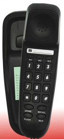 TEL UK T-18008B Bilbao Corded Telephone Black