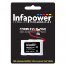 Infapower T001 3 x 2/3 AA 6v 650mAh Cordless Telephone Battery