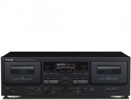 TEAC W-1200 Twin Cassette Deck with Microphone Mixing & USB Output