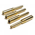 TP-22 Gold 4mm Plug with Crimp Fixing (2.4mm, 3.2mm & 3.8mm Sizes Available)