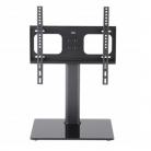 "TTAP TT44F Universal Black Glass Pedestal TV Stand for up to 55"""