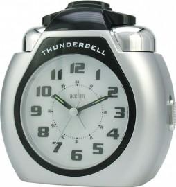 acctim Thunderbell Alarm Clock - Silver