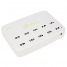 KitSound USBST10 10-Port USB 12-Amp Charging Station