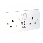 UT-86USB UK Power & USB Socket