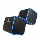 Volkano VB-702 USB Powered Diamond Stereo Speaker - Blue