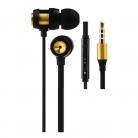 Volkano VK-1007-GD Alloy Series Metal In-ear Earphones - Gold