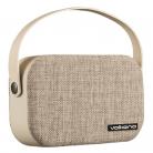 Volkano VK3020 Fabric Series Bluetooth Speaker with Fabric Trim - Light Grey