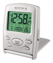 acctim Vista MSF Radio Controlled Multi function LCD Travel Alarm Clock