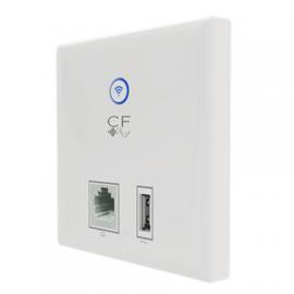 Antiference Clear Flow WAP U 300 Mbps PoE In Wall Access Point (1xRJ45 1xUSB)