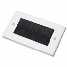 WPB100 White Double Flush Outlet with Black Brushes