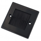 WPB50B Black Single Flush Outlet with Black Brushes