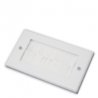 WPWB100 White Double Flush Outlet with White Brushes