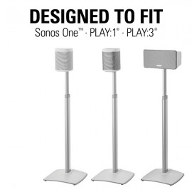 Sanus SONOS Adjustable Height Stands for One, PLAY:1 & PLAY:3 (Singles or Pairs)