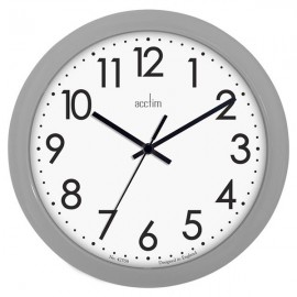 acctim Abingdon Wall Clock 25.5cm - Grey
