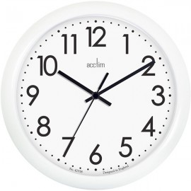 acctim Abingdon Wall Clock 25.5cm - White