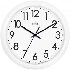 acctim Abingdon Wall Clock 25.5cm - White