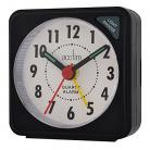 acctim Ingot Quartz Travel Alarm Clock - Black