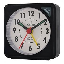 acctim Ingot Quartz Travel Alarm Clock - Black