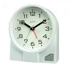 acctim Leon Alarm Clock - White