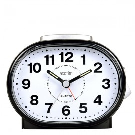 acctim Lila Sweep Alarm Clock - Black