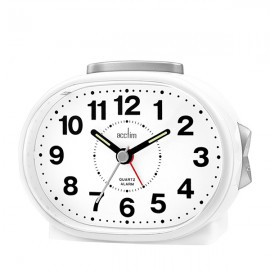 acctim Lila Sweep Alarm Clock - White