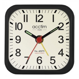 acctim Maldon Mini Alarm Clock - Black