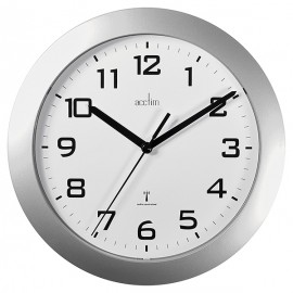 acctim  Peron Radio Controlled Wall Clock, Silver