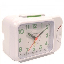 acctim Sonnet Alarm Clock with Loud Bell Alarm - White