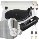 TEAC TN-180BT & Edifier R1280T BUNDLE (White) with Pioneer BT Headphones