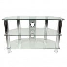 TTAP CC303/800 Classik TV Stand - Clear Glass & Chrome