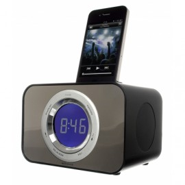 KitSound CLOCKDBK iPod Clock Radio Dock Bad Boy Black