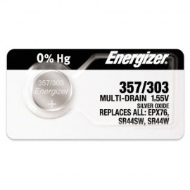 Energizer ENER357 Silver Oxide Button/Coin Cell 1.55V Battery