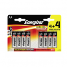 Energizer Max AA LR6 Alkaline Batteries 4+4 Free Promo Pack