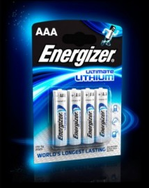 Energizer ENERLR92B4 Ultimate Lithium AAA Batteries