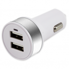 iSix IS20P USB Car Charger 3.4amp with 2 Outputs, White