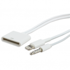 iSix IS23 30-pin socket to 8pin plug/3.5mm stereo plug - 30cm