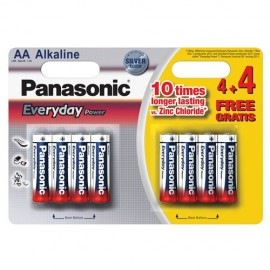 Panasonic PANALR6B4+4 AA 4+4 Free Alkaline Batteries