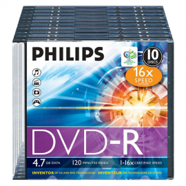 Philips DVD-R 16x Blank Discs