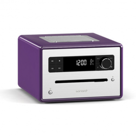 Sonoro Design CD Radio with Bluetooth/CD/USB/FM/DAB+ (Purple)