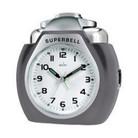 acctim Superbell Alarm Clock, Titanium