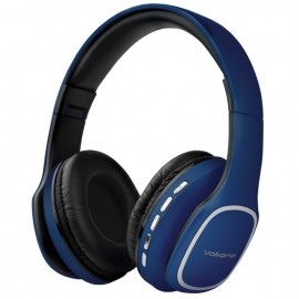 Volkano Phonic Series Bluetooth Folding Headphones with Mic - Blue