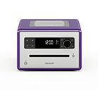 Sonoro Design CD Radio with Bluetooth in Purple